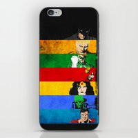 justice league iPhone & iPod Skins featuring A League of Justice by JordanJBDesigns