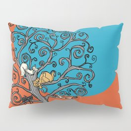 Cats under the blue moon Pillow Sham