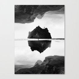 Black and White Isolation Island Canvas Print