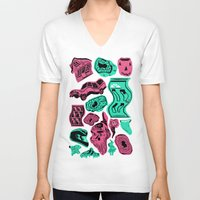 geode V-neck T-shirts featuring Portal Land  by Alex DeSpain