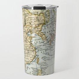 China, Russia, Japan Vintage Map Travel Mug