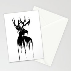 Painted Stag V.2 Stationery Cards