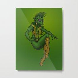 Rodian Pin-Up Girl Metal Print