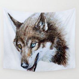 Heterocromia wolf Wall Tapestry