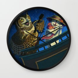 The Owl And The Pussycat Wall Clock