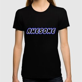 AWESOME in Brick Font Logo Design [Alternate Colors] by Chillee Wilson T-shirt