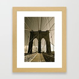 Brooklyn Bridge in Tone Framed Art Print