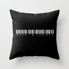 born in the usa barcode Throw Pillow