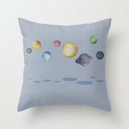 The Solar System Throw Pillow