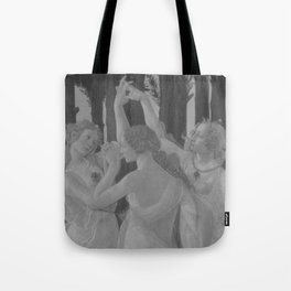 Black White Primavera Tote Bag