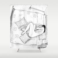 apollonia Shower Curtains featuring asc 547 - My New Year's resolutions - December by From Apollonia with Love