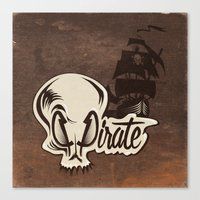 pirate Canvas Prints featuring Pirate by Tony Vazquez