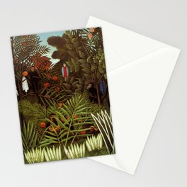 "Henri Rousseau ""Exotic landscape"", 1908 Stationery Cards"
