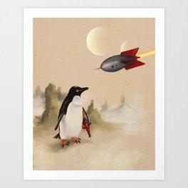 Pulp Penguin Kunstdrucke