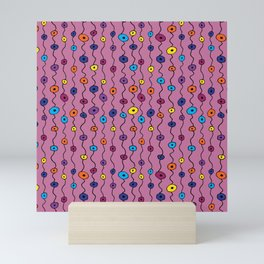 Electric Flower Buds Mini Art Print