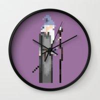 gandalf Wall Clocks featuring Gandalf by LOVEMI DESIGN