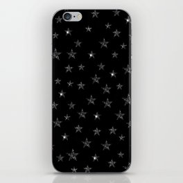 Black Stars iPhone Skin