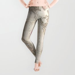 Long and Staten Island Map Leggings