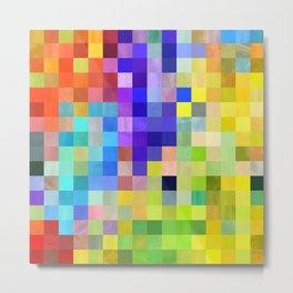 Bright Pixels Metal Print