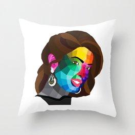 Priyanka Chopra - popart portrait Throw Pillow