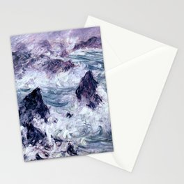 Monet : Storm At Belle Ile Stationery Cards