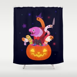 Spooky eels Shower Curtain