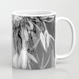 Black and white dandelion covered by raindrops Coffee Mug