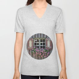 Good Morning Geraniums! Unisex V-Neck
