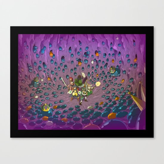 Slimed ! Canvas Print
