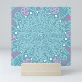 Crystallizing Snowflake Under a Microscope Mini Art Print