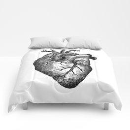 Vintage Heart Anatomy Comforters
