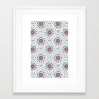 wallpaper Framed Art Prints featuring Wallpaper  by Truly Juel