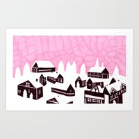 finland Art Prints featuring Finland  by or livneh