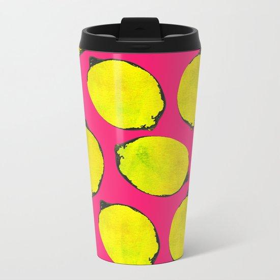Lemon pattern Metal Travel Mug