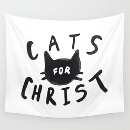 Cats for Christ Wall Tapestry