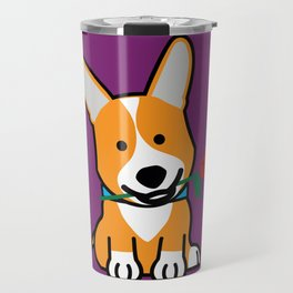 Corgi dog puppy Pembroke Welsh Valentine Rose Travel Mug