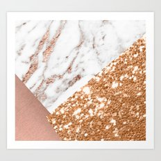 Layers of rose gold Art Print