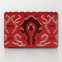 warcraft iPad Cases featuring Ugly Sweater 2 by SlothgirlArt