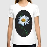 jewish T-shirts featuring A daisy a day keeps the blues away by Brown Eyed Lady