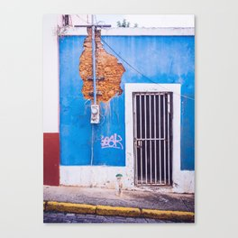 Old San Juan Doorway Canvas Print