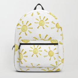 Happy Sunshine Print Backpack