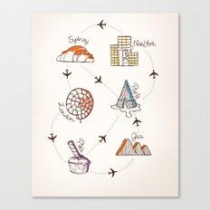Sweet Travel Canvas Print