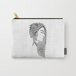 Zentangle portrat 1 Carry-All Pouch