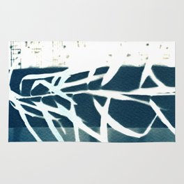 Fragments of the Past (31), art print, collage, blue print, cyanotype print, wall art, wall decor Rug
