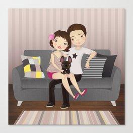 Little family Canvas Print