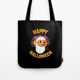 Happy Halloween Pumpkin Alpaca Costume Tote Bag