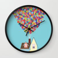 pixar Wall Clocks featuring Up by LOVEMI DESIGN