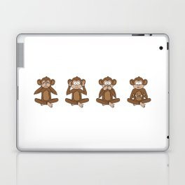 Four Wise Monkeys Laptop & iPad Skin