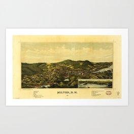 Aerial View of Milton, New Hampshire (1888) Art Print