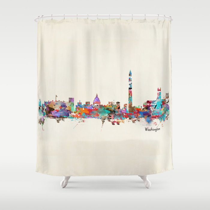 Washington Dc Skyline Shower Curtain By Bribuckley Society6